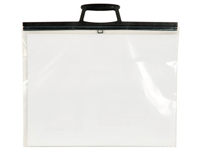 Clear Poly Folio With Clip Handles A3