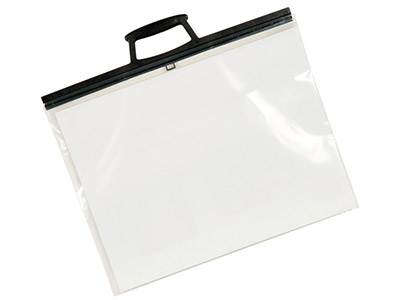 Clear Poly Folio With Clip Handles A4
