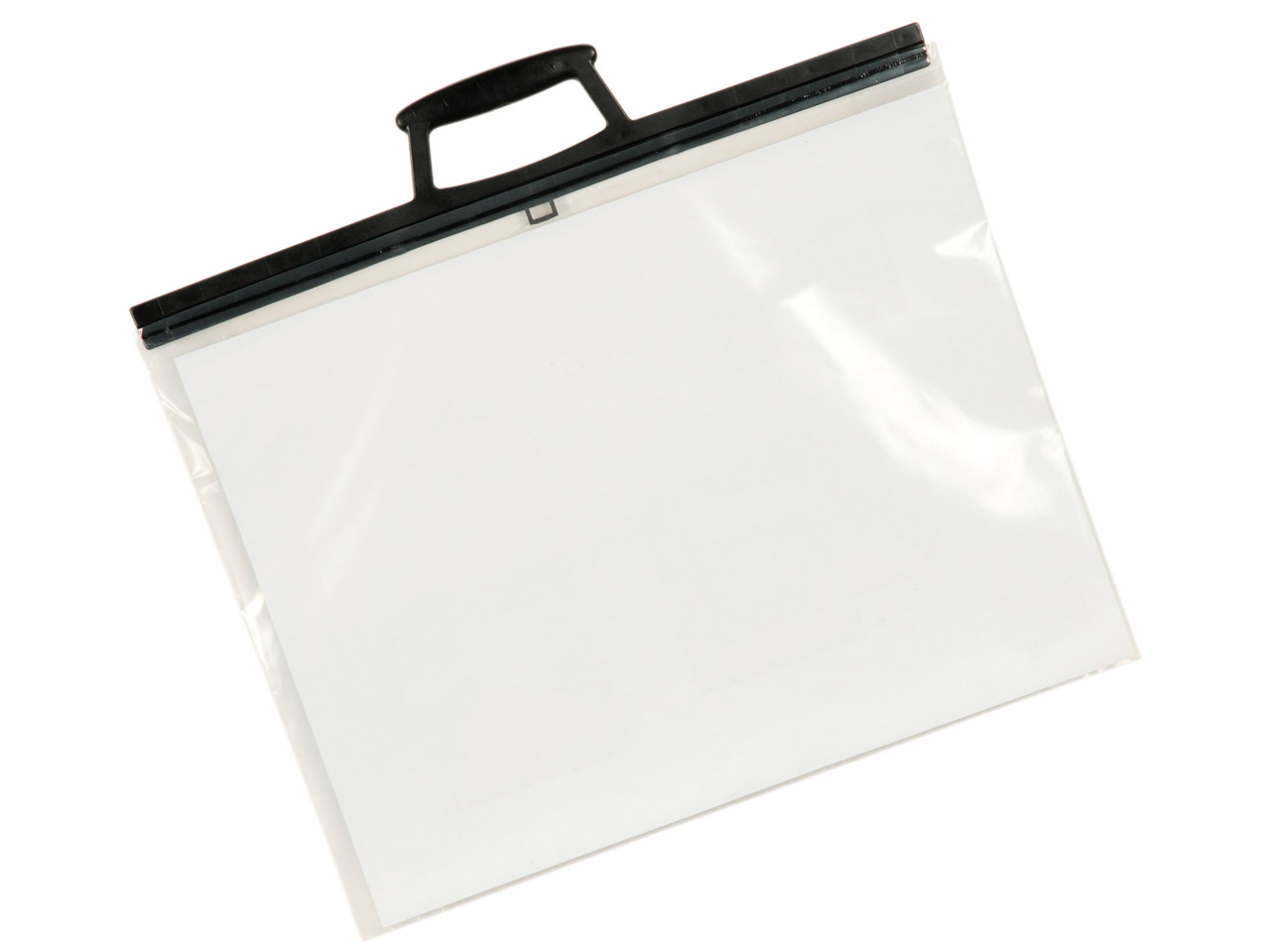 Clear Poly Folio With Clip Handles, A4