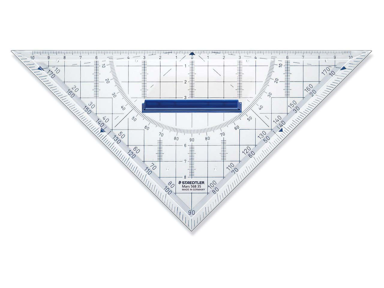 Staedtler Mars Geometry Set Square, 45 Degrees, 22cm Diagonal Length