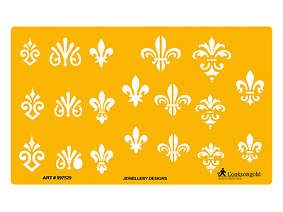 Jewellery Design Template With     Fleur De Lis Designs