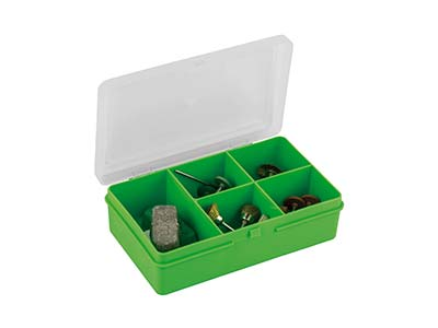 Wham Extra Small Storage Organiser Green 14.5 X 9.5 X 4cm 5           Compartments