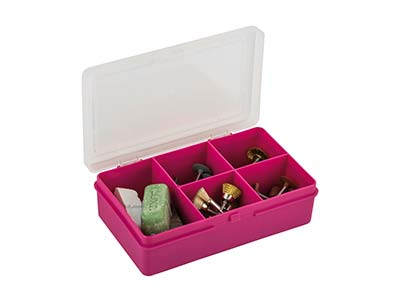 Wham Extra Small Storage Organiser Pink 14.5 X 9.5 X 4cm 5            Compartments