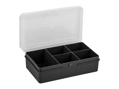 Wham Extra Small Storage Organiser 14.5x9.5x4cm 5 Compartments Black