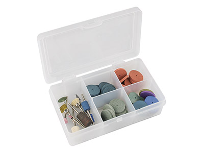 Wham Extra Small Storage Organiser Clear 14.5 X 9.5 X 4cm 5          Compartments