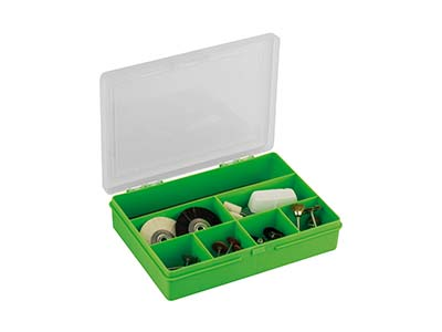 Wham Small Storage Organiser Green 19 X 14.5 X 4cm 7 Compartments