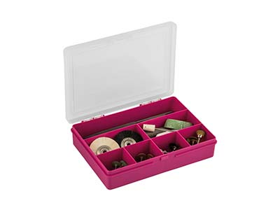 Wham Small Storage Organiser Pink  19 X 14.5 X 4cm 7 Compartments
