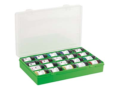 Wham Medium Storage Organiser Green 29 X 19 X 4.5cm 20 Compartments
