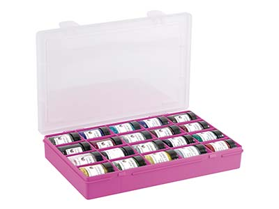 Wham Medium Storage Organiser Pink 29 X 19 X 4.5cm 20 Compartments