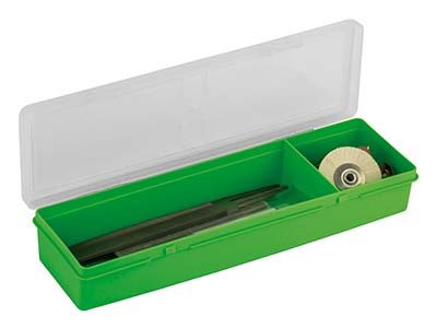 Wham Long Project Box Organiser    Green 30 X 10 X 4.5cm 2            Compartments