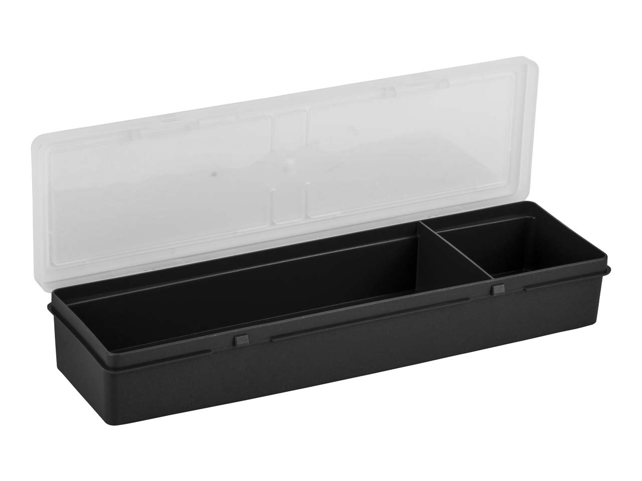 Wham Long Project Box Organiser    30x10x4.5cm 2 Compartments Black