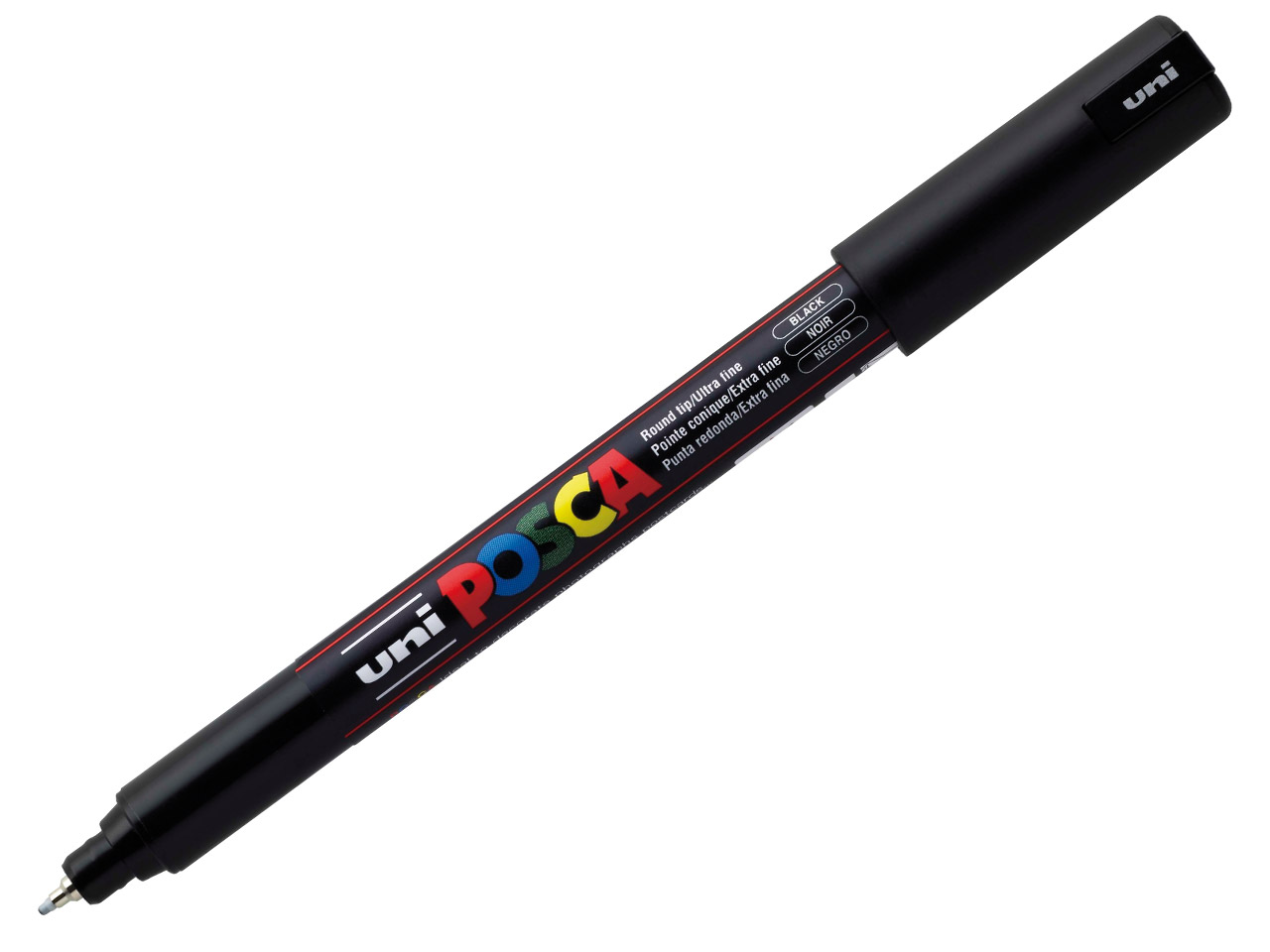 Posca Multi-surface Paint Marker In Black, 0.7mm Ultrafine Tip