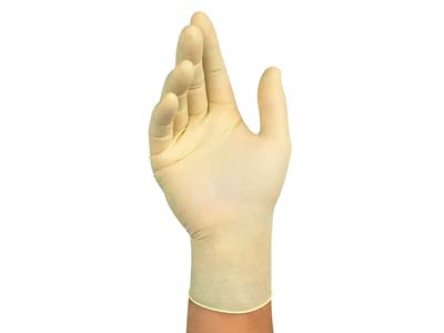 Disposable Latex Gloves, Box Of 100
