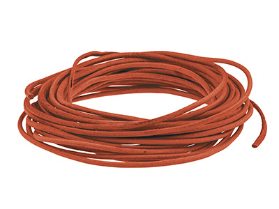 Dark Red Round Leather Cord, 2mm   Diameter, 3 X 1 Metre Length