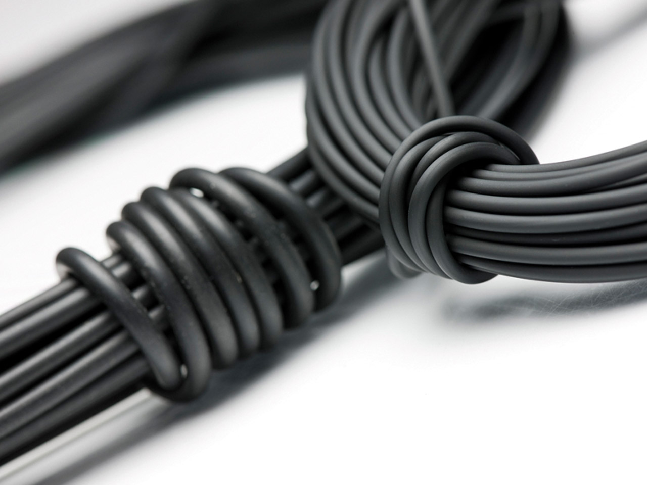 Black Rubber Round Cord, 3.0mm X 10 Metres