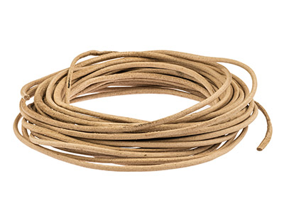 Beadalon Greek Leather Cord Natural 2mm X 5m
