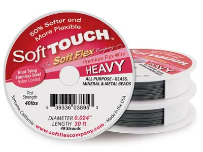 Soft Touch Wire, Heavy, Diameter   0.0240.60mm, Length 30ft9m