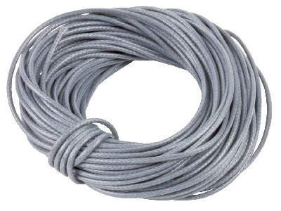 Cotton Cord Grey 1mm Round X 10    Metres