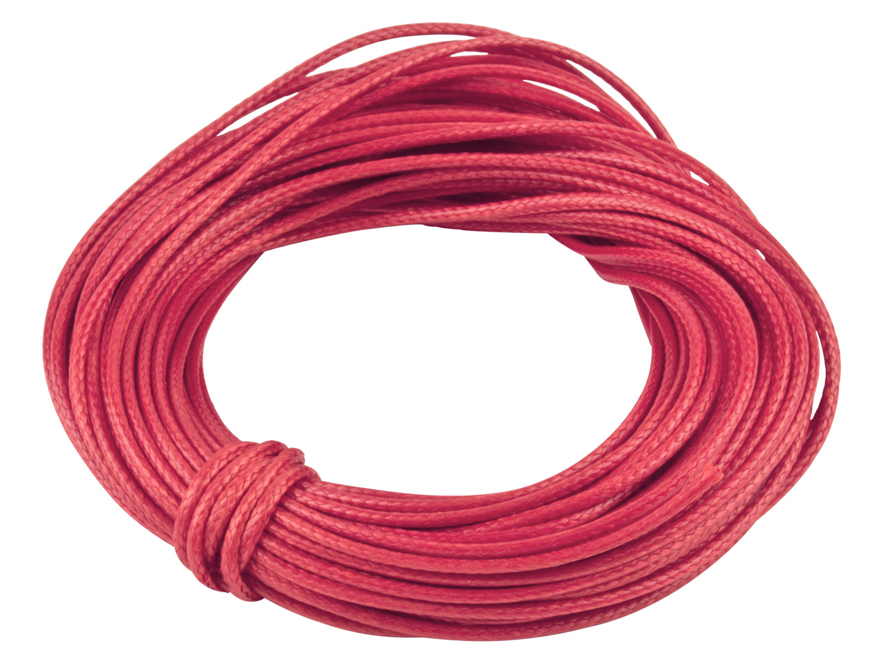 Cotton Cord Red 1mm Round X 10     Metres