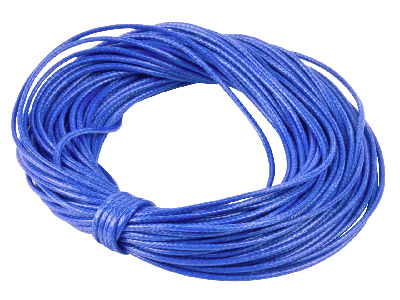 Cotton Cord Blue 1mm Round X 10    Metres