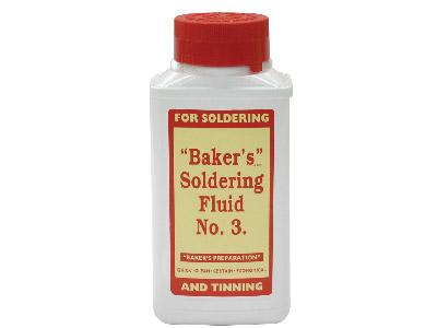 Bakers Soldering Fluid 250ml       Un1760 Only Despatch By Tnt