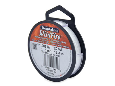 Beadalon Wildfire Thread Frost     0.15mm X 18.3m