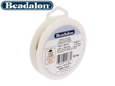 Beadalon German Style Wire Half    Round Silver Plated 20 Gauge Half  Hard