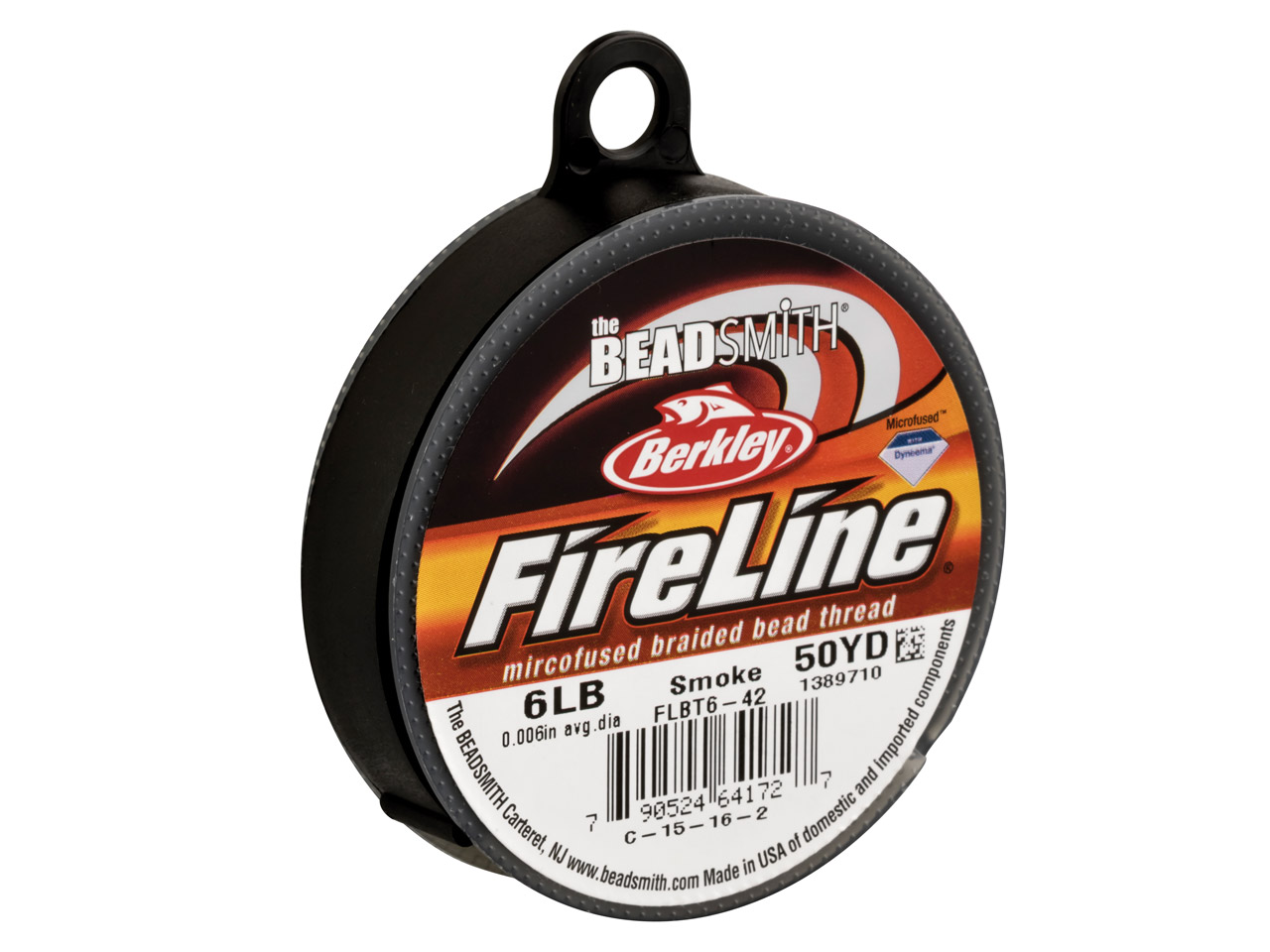 Fireline Beading Thread 6lb, Smoke, 0.15mm X 50 Yard Reel