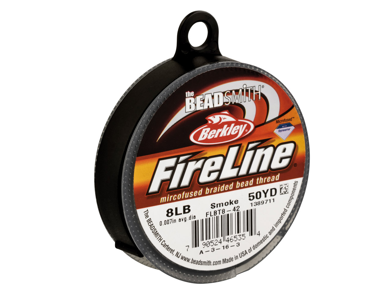 Fireline Beading Thread 8lb, Smoke, 0.17mm X 50 Yard Reel