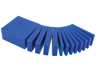 Ferris Wax Block, Blue, Assorted   Sliced