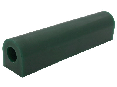 Flat Sided Wax Tube Green 33.3mm Wide X 30.2mm High