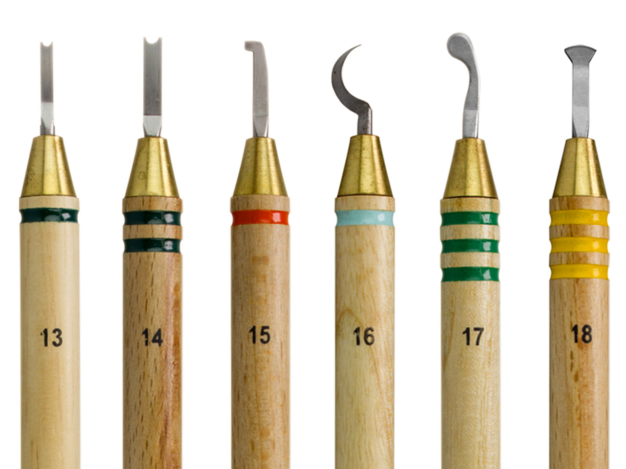 Wolf Precision Wax Carver Set Of 6 Specialty Sizes 13-18