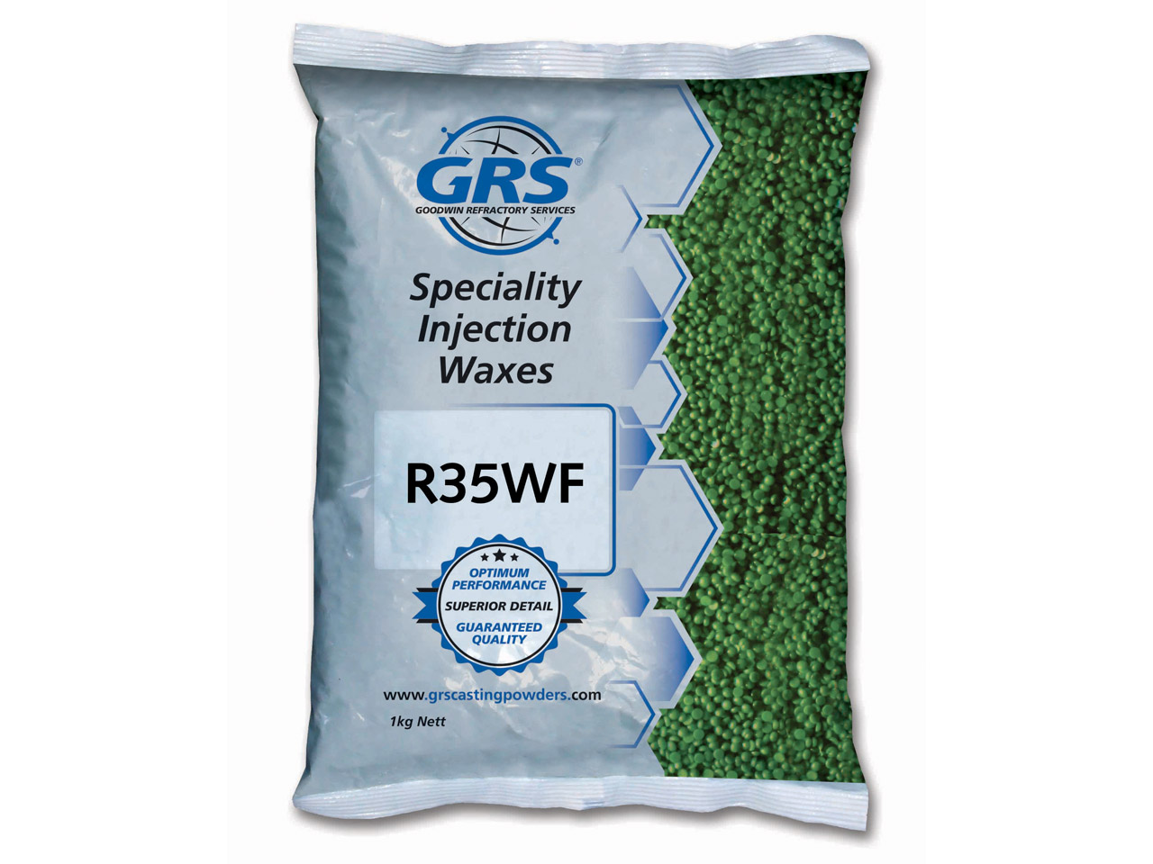 Grs Premium Injection Wax Sturdy   Green 1kg