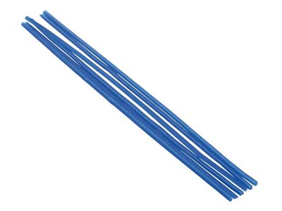 Ferris Cowdery Wax Profile Wire    Round Tube Blue 2mm Pack of 6