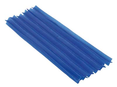 Ferris Cowdery Wax Profile Wire 4  Prong Blue 8mm Pack of 6