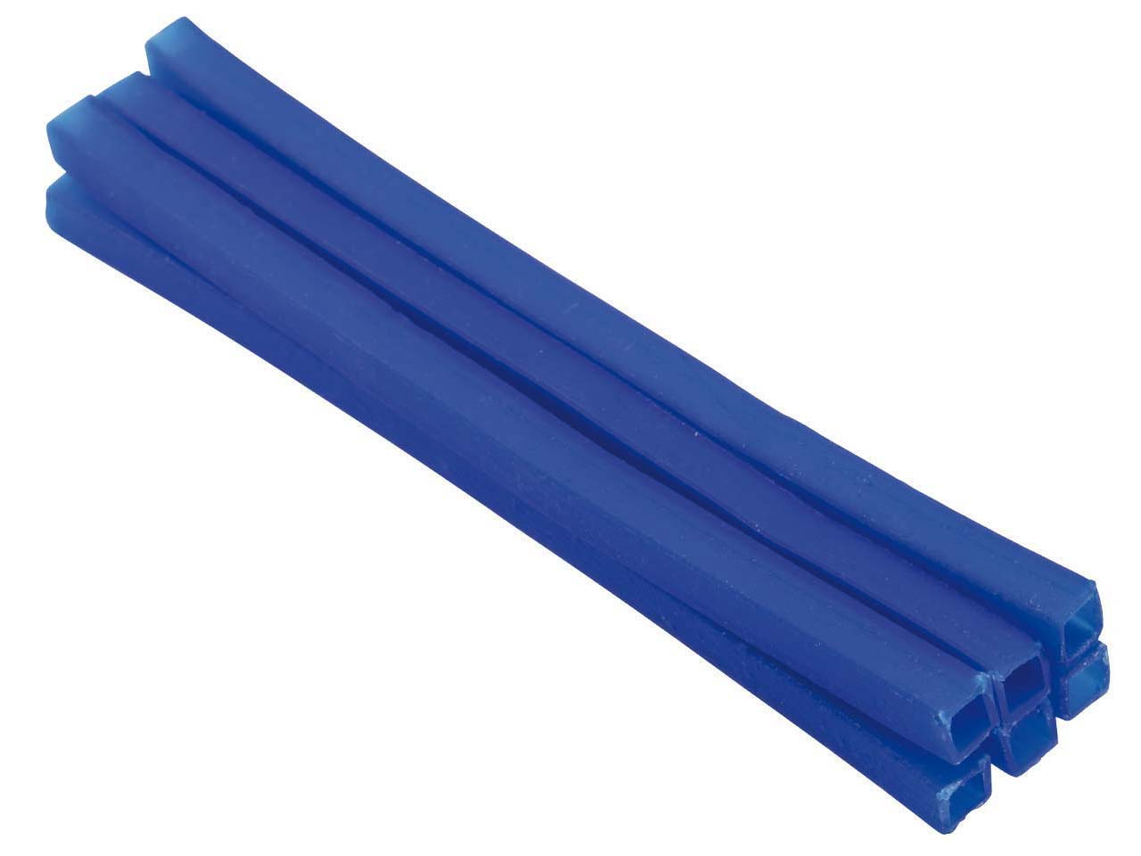 Ferris Cowdery Wax Profile Wire    Square Tube Blue 6mm Pack of 6