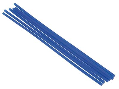 Ferris Cowdery Wax Profile Wire    Square Rod Blue 2mm Pack of 6