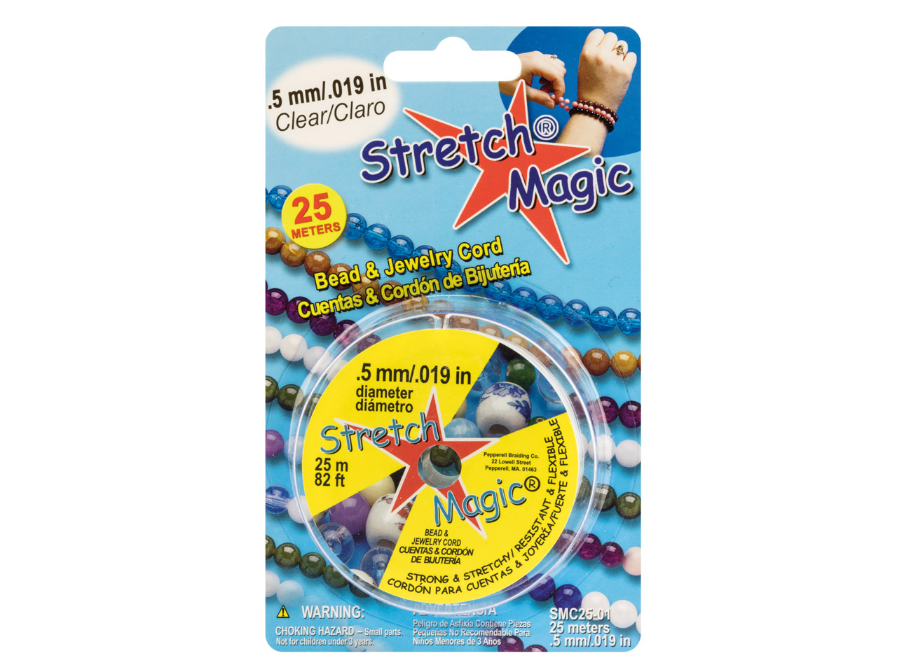 Stretch Magic Elastic Bead Cord,   0.5mm X 25m Reel