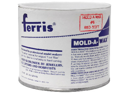 Ferris Mould-a-wax Tub 1lb, Red,   Soft Grade