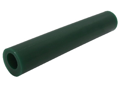 Ferris Round Wax Tube With Off     Centre Hole, Green, 6150mm Long, 27mm Diameter