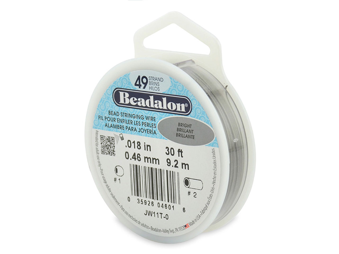 Beadalon 49 Strand Bright 0.46mm X 9.2m Wire