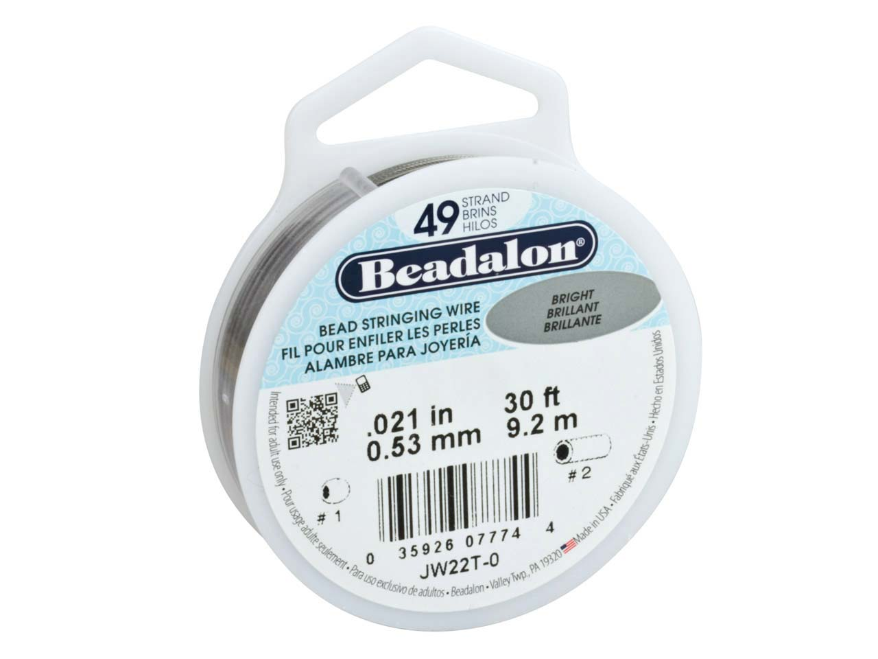 Beadalon 49 Strand Bright 0.53mm X 9.2m Wire