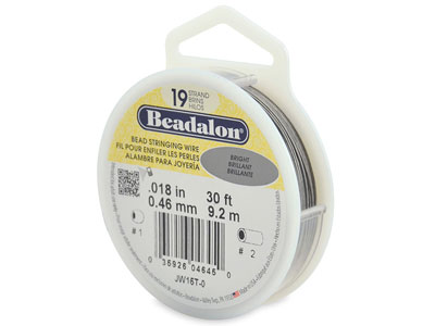 Beadalon Bright 0.46mm Thickness 19  Strands  9.2 Metres 30ft   Length