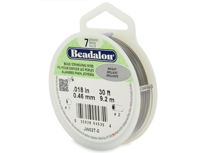 Beadalon Bright 0.46mm Thickness 7  Strands  9.2 Metres 30ft   Length