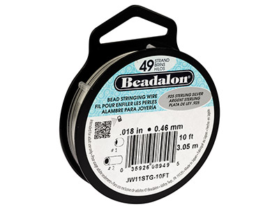 Beadalon 49 Strand Sterling 0.46mm X 3m Wire