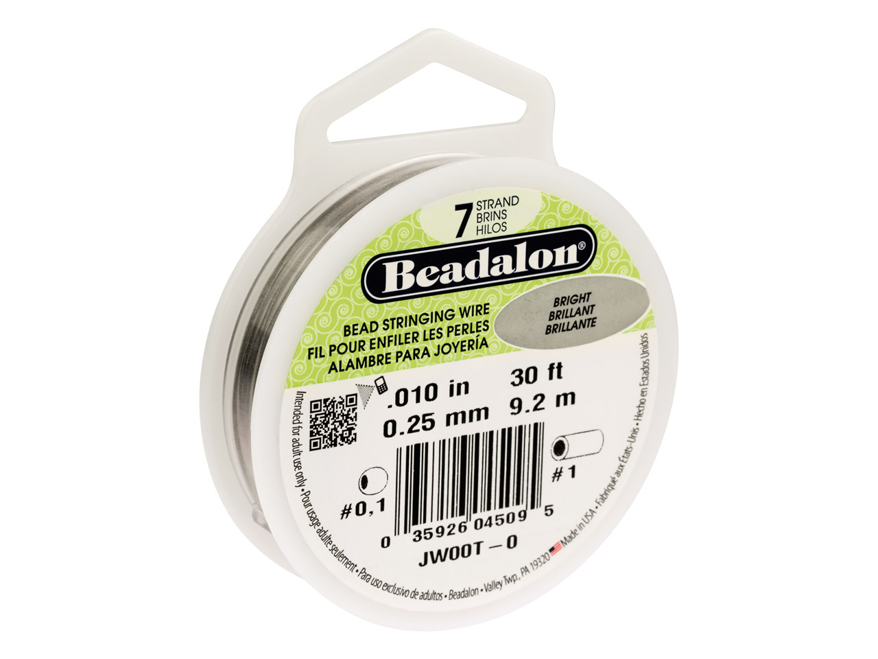 Beadalon 7 Strand Bright 0.25mm X  9.2m Wire