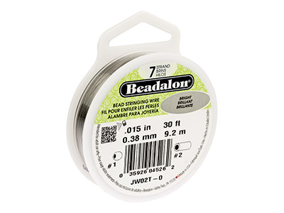 Beadalon 7 Strand Bright 0.38mm X  9.2m Wire