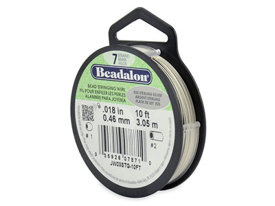 Beadalon 7 Strand Sterling 0.46mm X 3.1m Wire