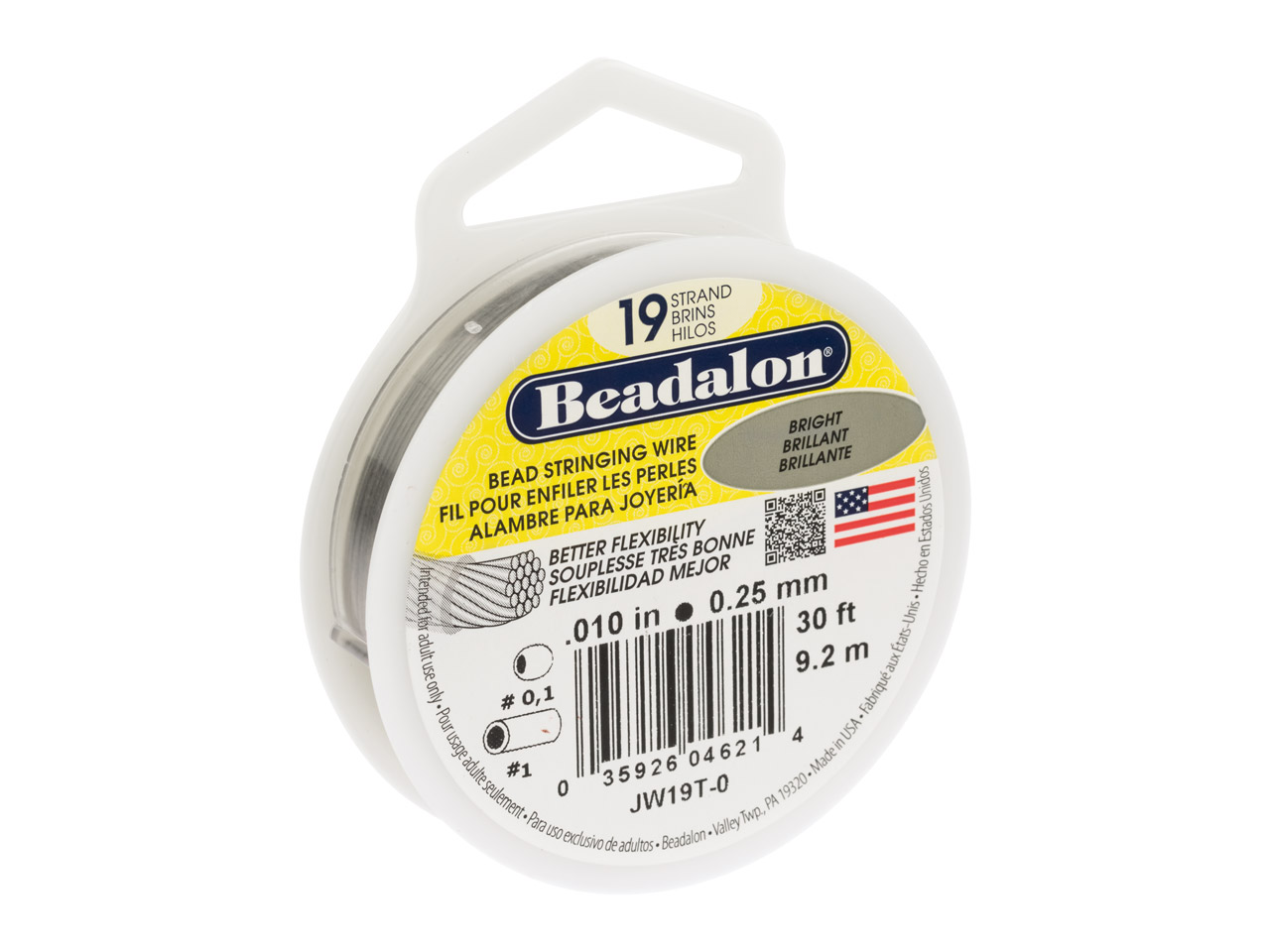 Beadalon 19 Strand Bright 0.25mm X 9.2m Wire