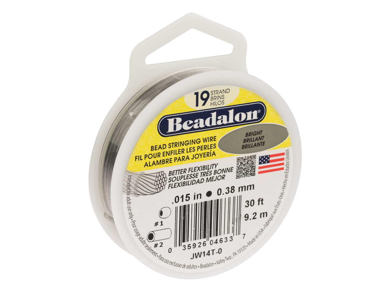 Beadalon 19 Strand Bright 0.38mm X 9.2m Wire